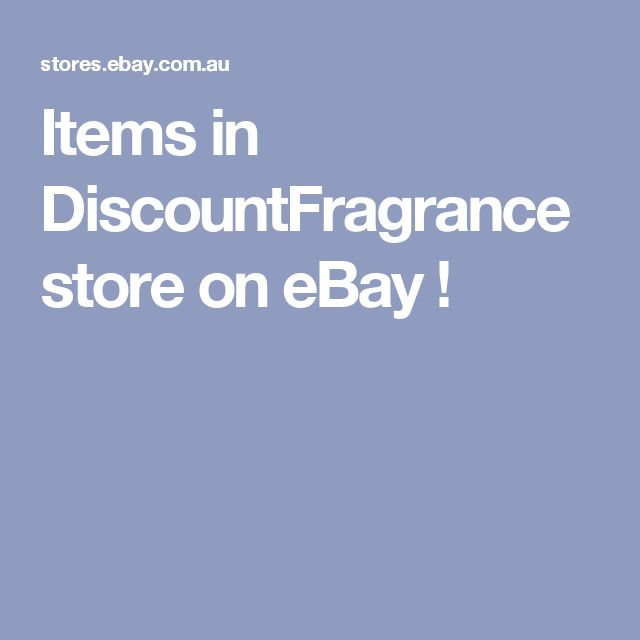Items in DiscountFragrance store on eBay !