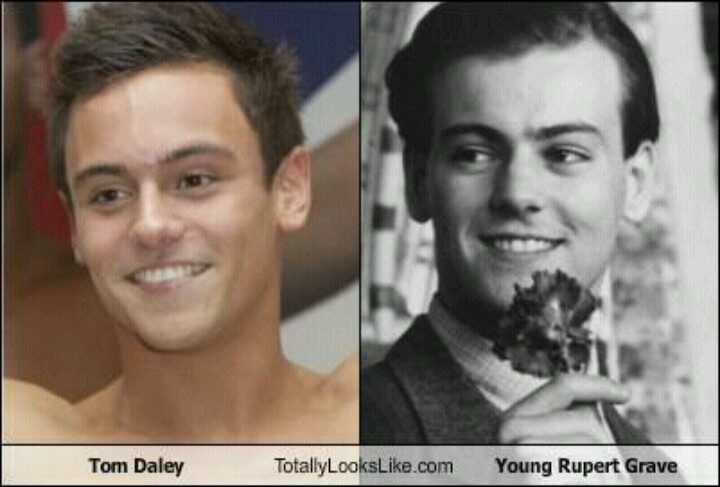 Tom Daley totally looks like young Rupert Grave