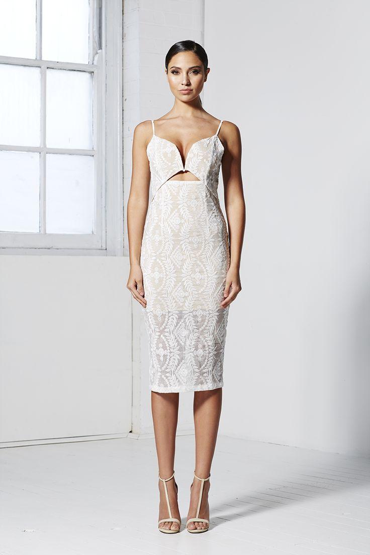 MID SUMMER 3/4 DRESS WHITE