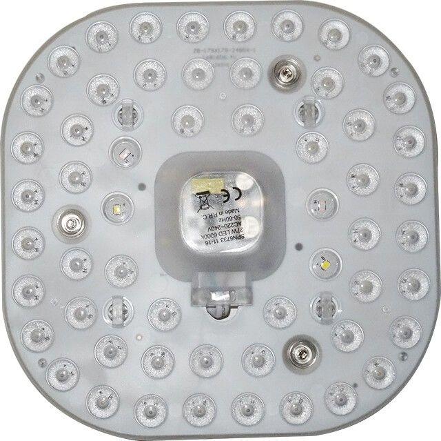 Noul MODUL APLICA LED 24W se monteaza usor pe carcasa plafonierei iar lumina celor 48 de LED-uri este amplificata de lupa, oferind un iluminat de calitate.