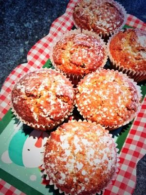 Foodie Quine: Christmas Cake & Candy Mincemeat & Spiced Ginger Preserve Muffins