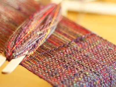 Weft takes about 60% of what the warp did.