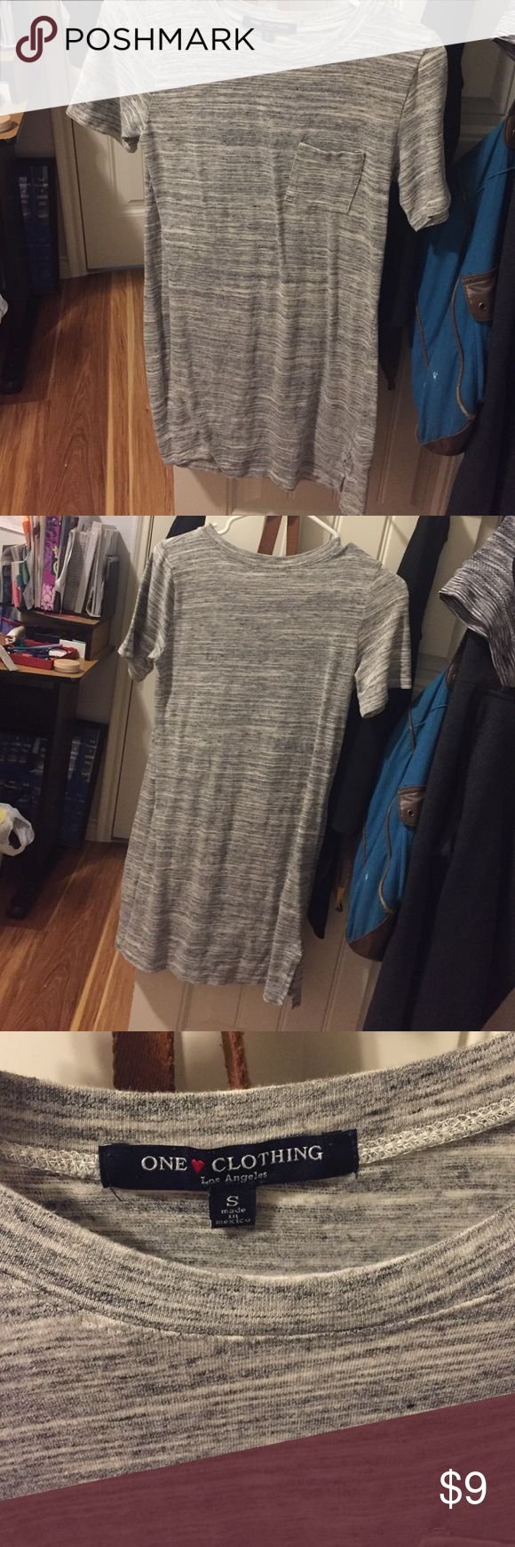 Casual Pocket T-Shirt Dress stretchy fabric with length that will fall to your knees (Im 5'1) one clothing Dresses Midi