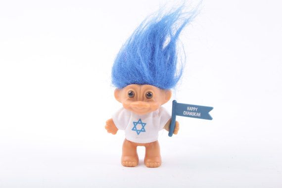 Troll Russ Norfin Dressed Four Inch Isreal Jewish Pride Happy Hannukah Holiday  The Pink Room  161002C by ThePinkRoom