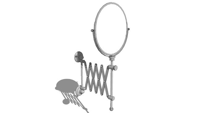 Bathroom Extendable Mirror - 3D Warehouse