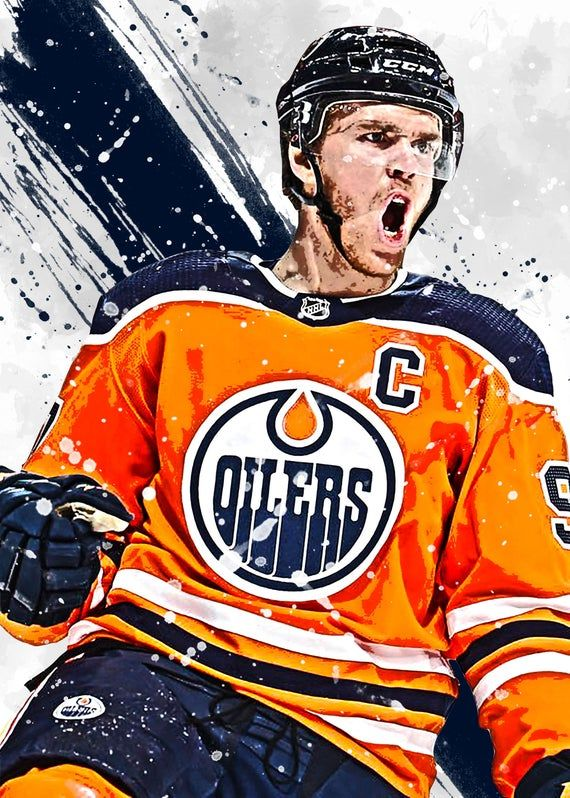 Connor Mcdavid Edmonton Oilers Poster Print Sports Art Etsy In 2021 Edmonton Oilers Hockey Oilers Hockey Connor Mcdavid