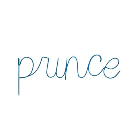 """Gorgeous hanging """"PRINCE"""" wire word by Raw!  Made from metal and powder coated in blue this makes a gorgeous addition to to any boys room - big or small - designer decor at affordable prices!  Size: 40CM Wide  Colour: Blue"""