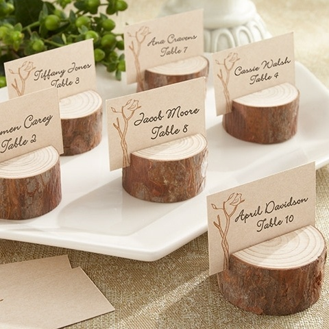 Rustic Real Wood Place Card/Photo Holder/ This would be cool with a picture of the bride and groom also
