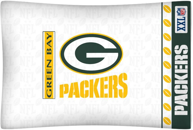 NFL Green Bay Packers Football Set of Two Pillowcases #SportsCoverage #GreenBayPackers