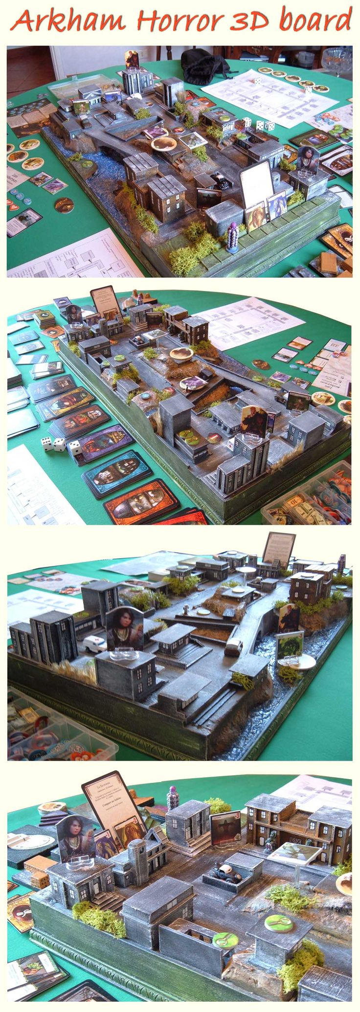 my model of Arkham Horror, 3D board, #Arkham #Horror #boardgame, #accessory. You want (250€+shipping) contact me enricodiblasio@gmail.com
