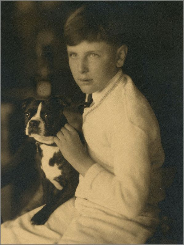 Vintage Doggy: A Boy and his Boston Terrier