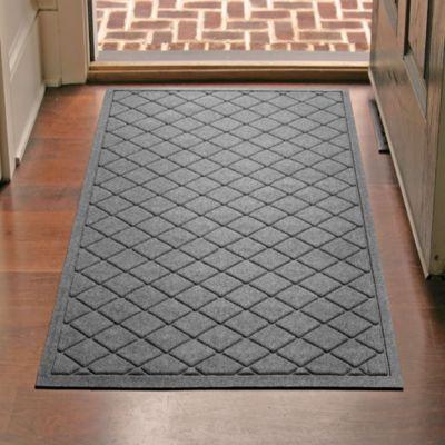 door beyond bath bed mats front