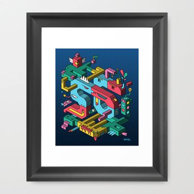 Font of all Known Ledges Framed Art Print by Mister Phil - $35.00