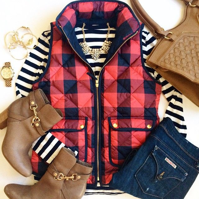 Stripes & Buffalo Check #OOTD - The Southern Style Guide