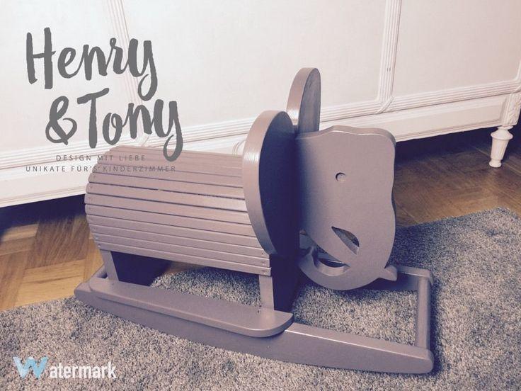 Henry & Tony - Schaukelelefant grau/lila frisch aufgearbeitet  Unsere Möbel sind wunderschöne...,Henry & Tony - Schaukelelefant grau/lila frisch aufgearbeitet in Schleswig-Holstein - Oersdorf bei Neumünster