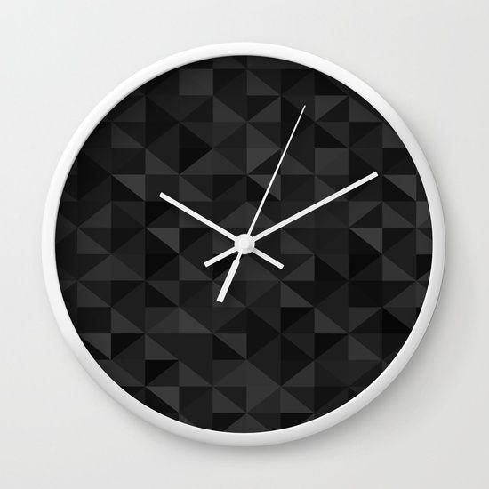 I luv Black Wall Clock