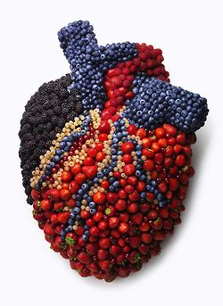 fruitasticharlotte:  cauliflowerqueen:  tonedbellyplease:  Eat fruit and keep your heart healthy  the blueberries for the pulmonary arteries...