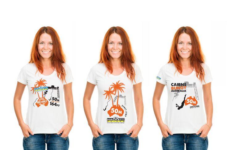 AJ Hackett International t-shirt design