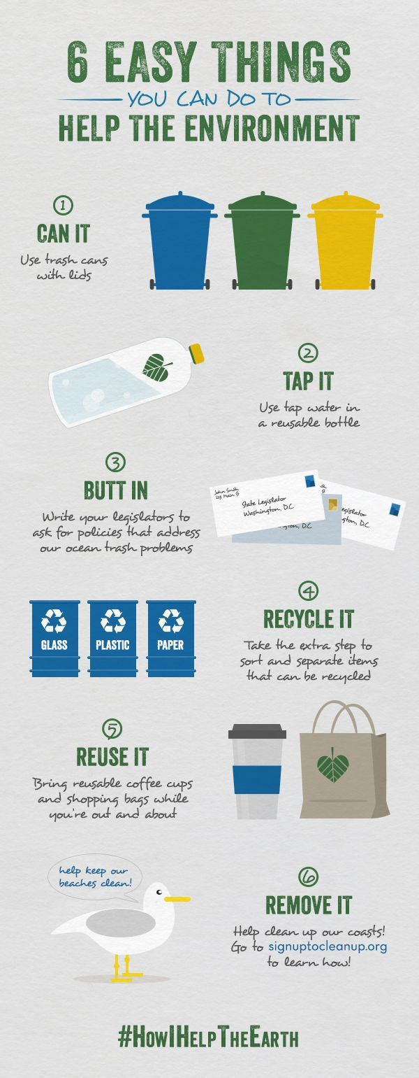 6 easy things you can do to help the environment #recyclingtips