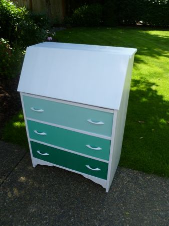 The Weathered Door: Ombre Secretary Desk - DIY Before and After