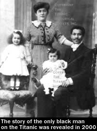 Joseph Phillippe Lemercier Laroche was the only black man to perish in the Titanic sinking. Laroche, shown on the right in a family photo, was on board with his pregnant wife Juliette and their two young daughters.