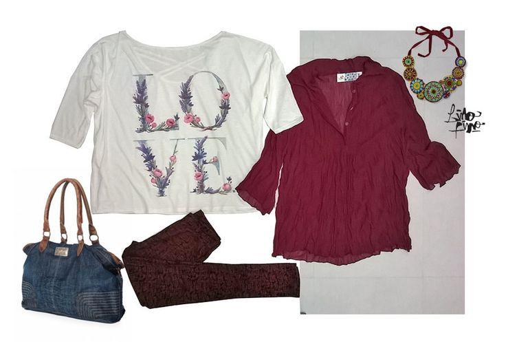 love+ camisola + leggin en bordo