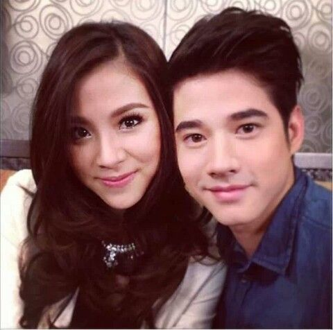 Mario Maurer with Baifern, in the Philippines to promote Penshoppe Clothing Line.