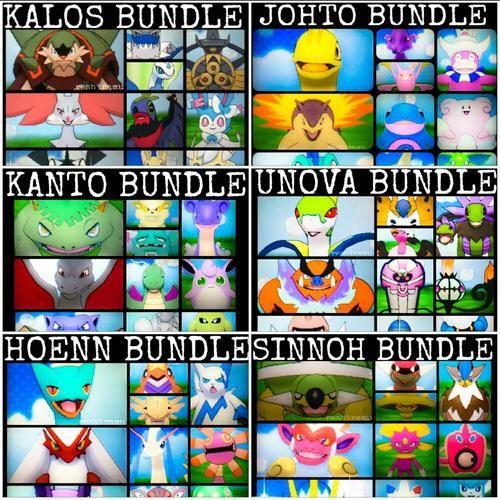 Pokemon Regions Bundle - Kanto, Johto, Hoenn, Sinnoh, Unova & Kalos