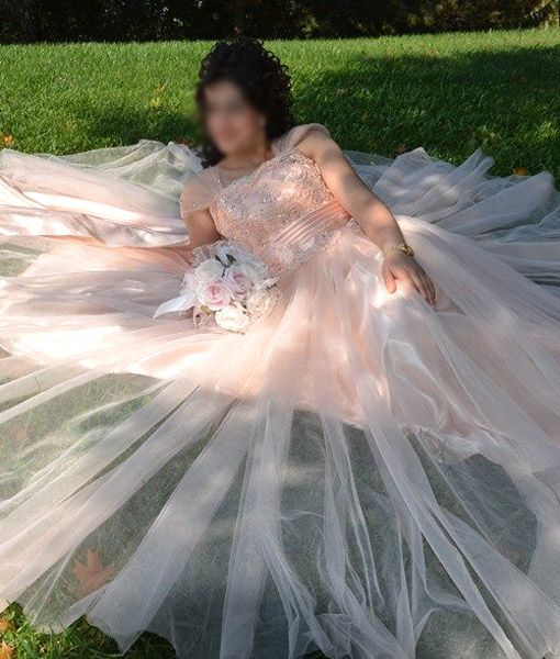 Prenses Kesim Modern Pudra Nişan Elbisesi – Ecrotto 400 ₺ www.gelinga.com
