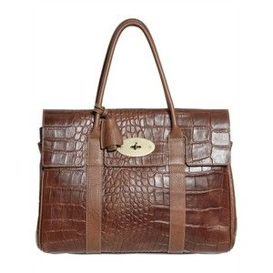 Mulberry Bayswater Crocodile Print Top Handle