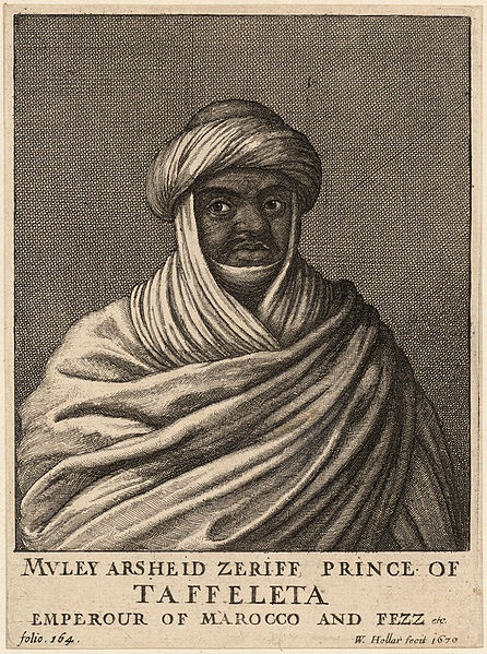 Moorish Prince of Morocco...Muley Arsheid Zeriff, Taffeleta Prince, Emperor of Morocco and Fez. Etching by Wenceslaus Hollar, 1670. He built a strong army and was one of the wealthiest SLAVE TRADERS of his time! To understand slavery, one has to look beyond the established history of Europeans against Africans, and look towards Africans against Africans and Arabs against Africans, and much more.