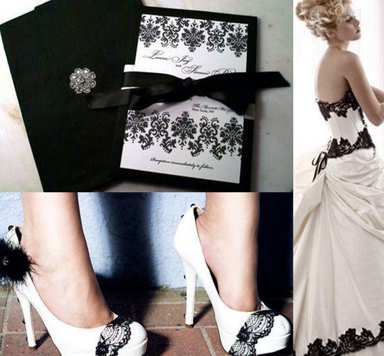 Matrimonio bianco e nero per Halloween