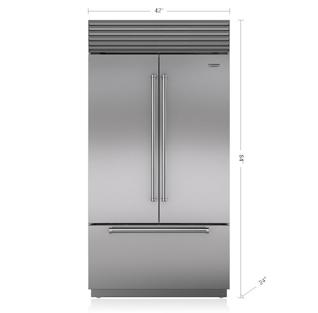 "Sub-Zero 42"" Built-In French door Refrigerator/Freezer with Internal Dispenser BI-42UFDID/S"