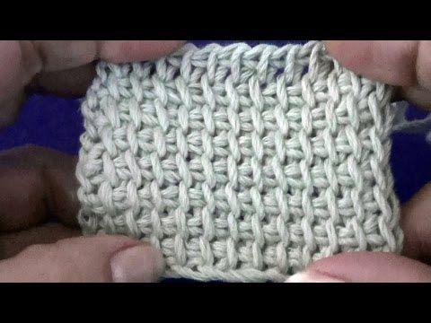 Тунисское вязание. Инструменты и простой столбик - YouTube
