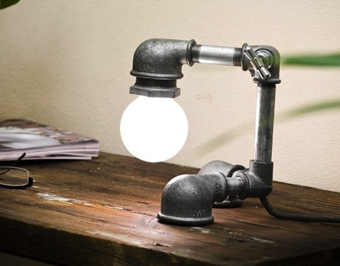 water pipe lamp