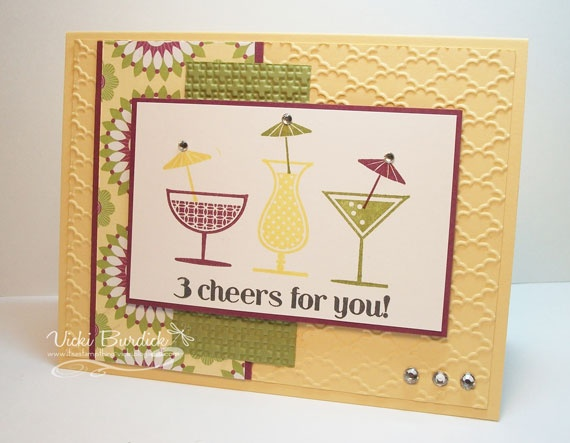 It's a Stamp Thing: 3 Cheers for You: Sketch Samples, Cards Pap Crafts, Stamps Things, Cardpap Crafts, Stamps Ideas, Awesome Cards, Cards Sketch