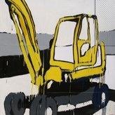 Jasper Knight Baby Crane150cm x 150cmEnamel, perspex and masonite on board