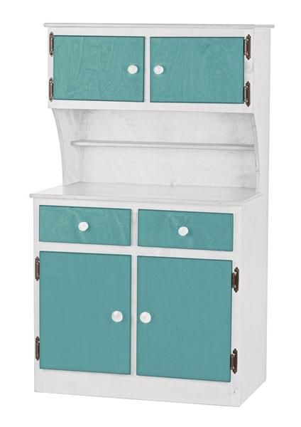 KITCHEN TOY HUTCH Amish Handmade Play Pantry Wood Furniture ~ TWO TONE  SERIES