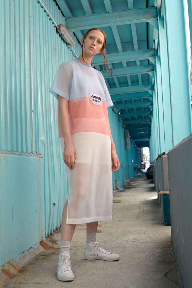 Chiara Predebon photographs Lex O. in a pastel filled editorial featuring rad styles from HK brand Somewhere x Nowhere.