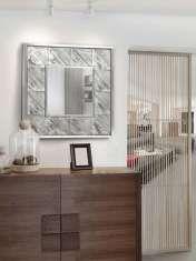 Espejos Cuadrados de Madera : Modelo ALPES Plata