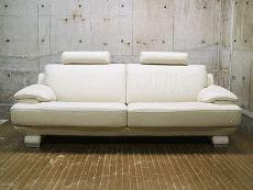展示品 IDC大塚家具 LS Celeb-01 LS セレブ-01 総革 3Pソファ/3人掛けソファ 50万 美品