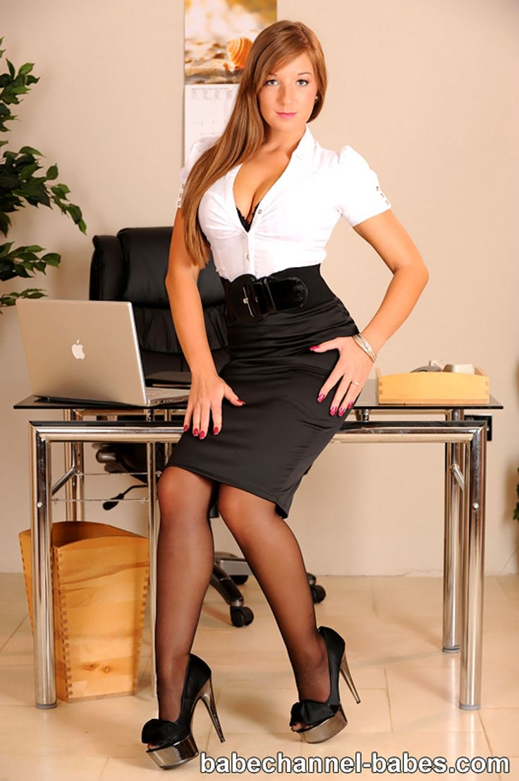 Weiße Tussi Busty office white blouse ugly