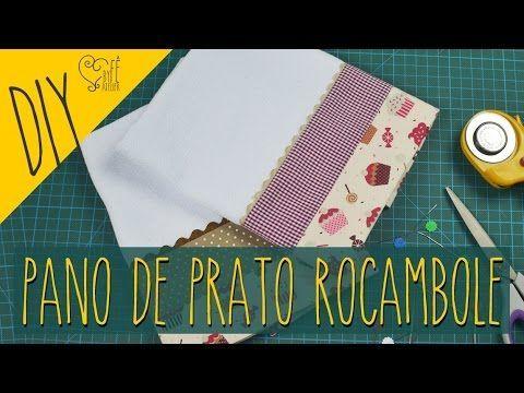 Aprenda a fazer a técnica rocambole para barrado de pano de prato... Super fácil e fica lindo!! Então vamos costurar?