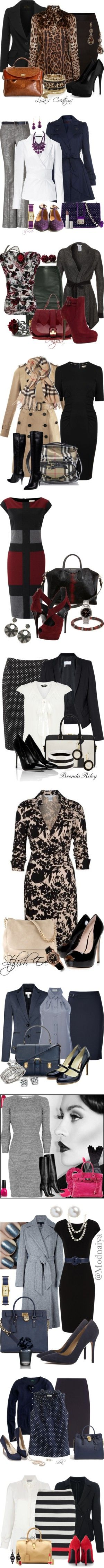 """Work Outfits - Winter"" by greeneyes44 ❤ liked on Polyvore"