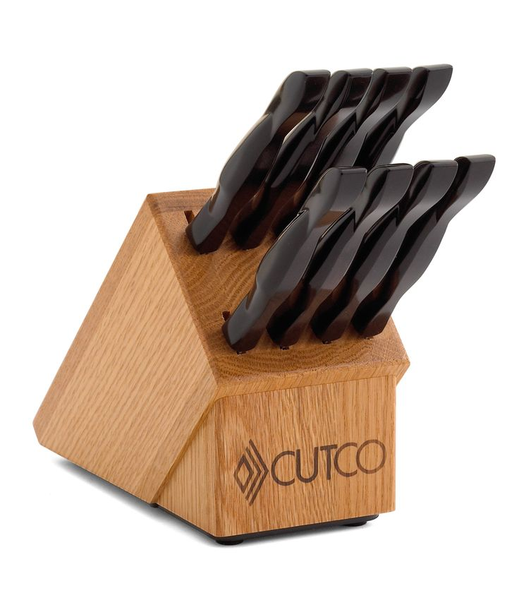 8 Pc Table Knife Set With Block