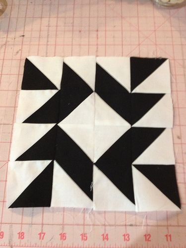 Modern Half-Square Triangle Quilt-a-Long Block 60