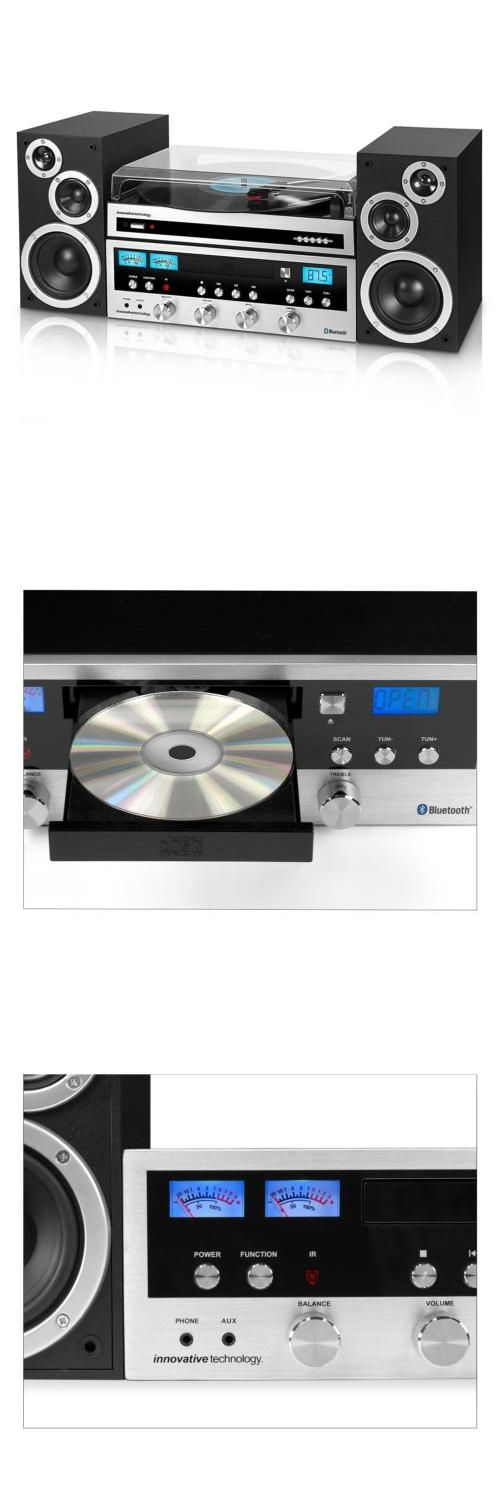 Compact and Shelf Stereos: Bluetooth Stereo System Cd Player Fm Radio Aux-In Headphone Jack Turntable -> BUY IT NOW ONLY: $100.81 on eBay!
