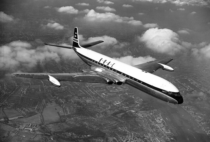 BOAC De Havilland Comet 4B, 1959                                                                                                                                                                                 Mais