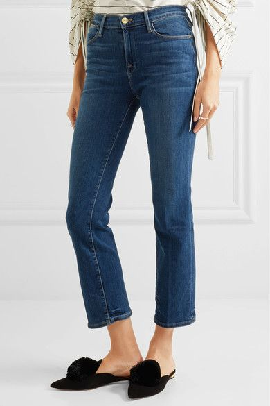 FRAME - Le High Cropped Skinny Jeans - Blue - 29