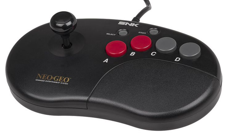 Accessories I want... Neo Geo Advanced Controller was a more compact joystick model released by SNK. Compatible with the AES and Neo Geo CD systems.